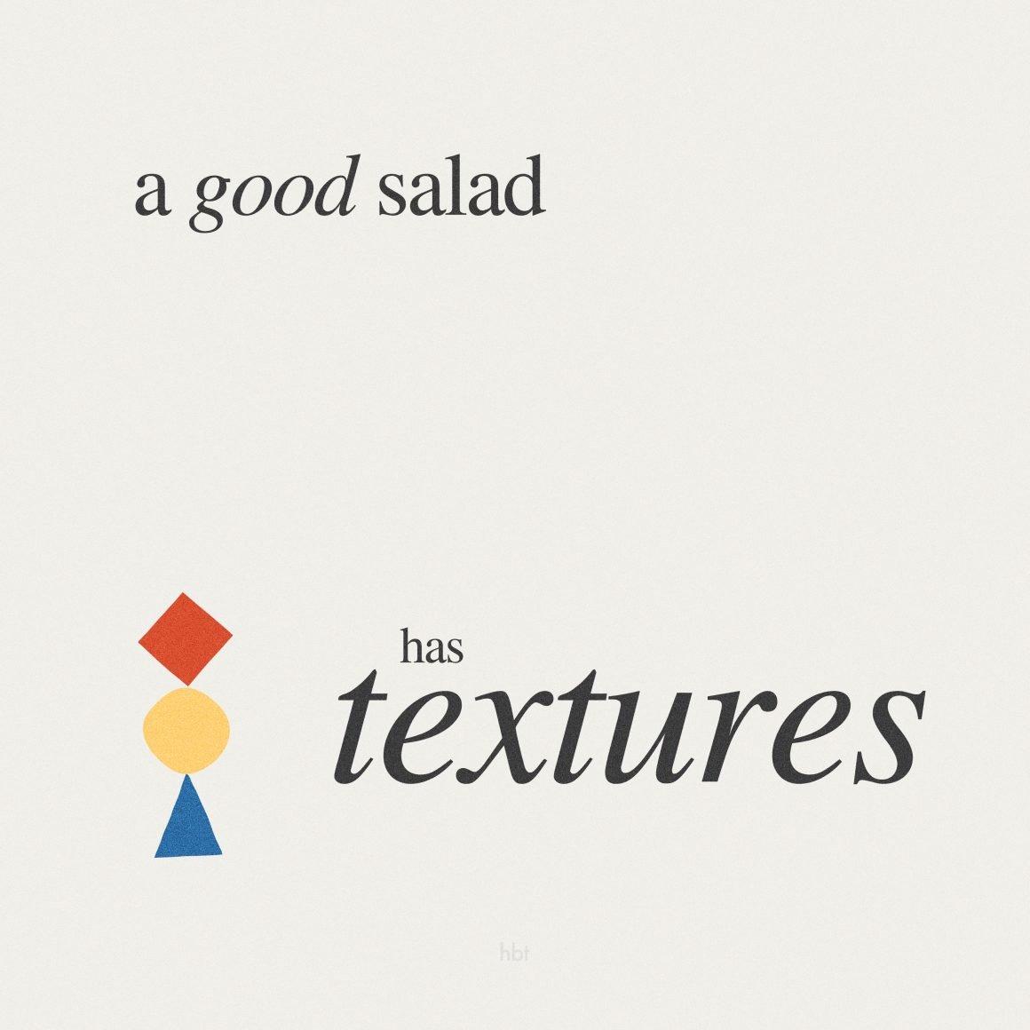 How to Make a Good Salad